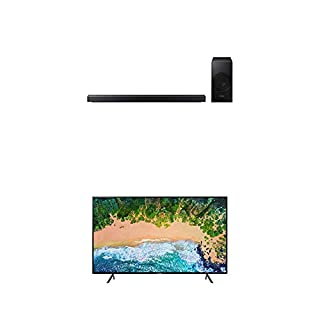 "Samsung UN40NU7100FXZC 40"" 4K Ultra HD Smart LED TV (2018) with Samsung 3.1-Channel Soundbar Home Speaker, Charcoal, Set of 2 (HW-N550/ZC) Bundle (B07L3MMJ92) | Amazon price tracker / tracking, Amazon price history charts, Amazon price watches, Amazon price drop alerts"
