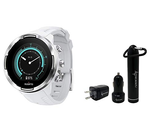 Suunto 9 Baro Durable Multisport GPS Watch with Barometric Altitude and Wearable4U Power Pack Bundle (Copper...