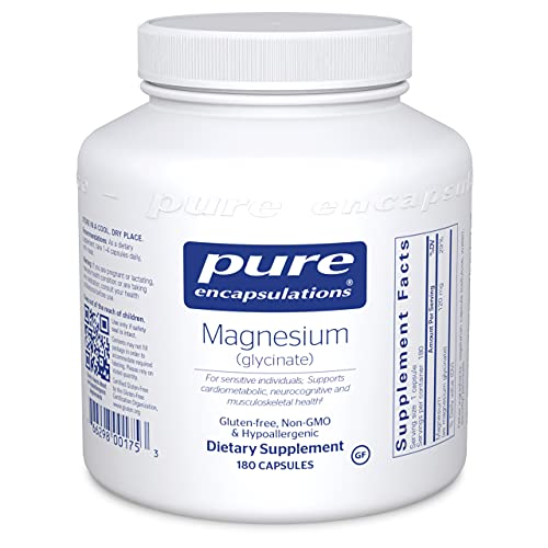 Pure Encapsulations - Magnesium (Glycinate) - Supports Enzymatic and Physiological Functions - 180 Capsules