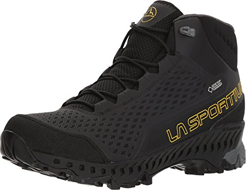 La Sportiva Stream GTX Hiking Shoe, Black/Yellow, 45.5