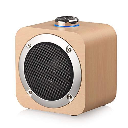 ZXJJD Hölzerner Bluetooth-Lautsprecher, Kreatives Knopf-eisennetz 3-Zoll-hochleistungs-Audio-Audio - 2 Stück Für Die Home Office Kitchen Party