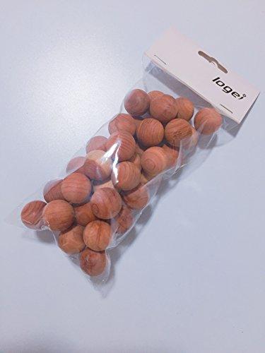 logei® Lot de 40 balles mothproof d'humidité balles de Bois pour Armoire tiroir Boules de cèdre Antimites