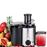 VEATON Juicer Electric Extractor Whole Fruit and Vegetable, Wide Mouth Centrifugal Juice Machine Dual Speed Settings and Overheat Overload Protection Juicers with Stainless Steel, Easy to Clean