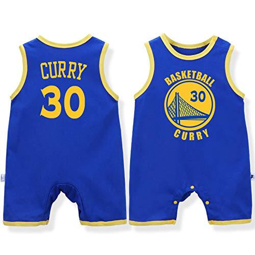 Uniforme de Baloncesto para bebé, número de Grupo, Chaleco sin Mangas, Mono de algodón James Lakers de 0-12 Meses,Blue-1,80cm