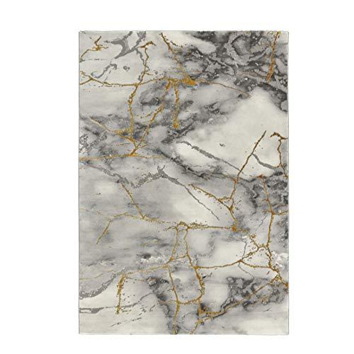 onloom Wohnzimmerteppich Craft, 3D Optik Stein Marmor, zertifizierter Designerteppich, Farbe:Marmor Gold, Größe:200 x 290 cm