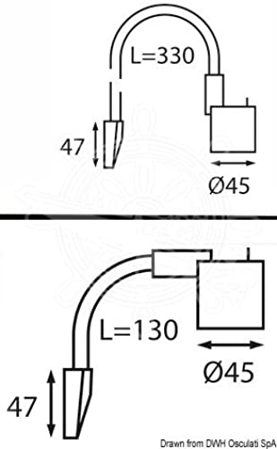 Spot flexible 6 LED tête de lit titanium argenté