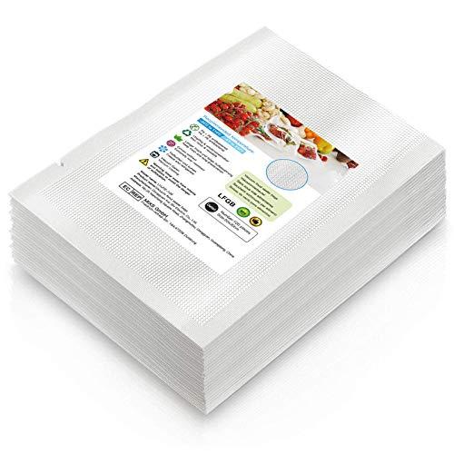 Vakuumierbeutel 20x30cm, 100 Stück Profi Lebensmittel Vakuumbeutel für alle Vakuumierer & Lebensmittel Vakuumiergerät, BPA-frei Sous Vide Gefrierbeutel (Transparent, 20 * 30)