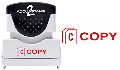 ACCUSTAMP2 Message Stamp with Micro ban Protection, COPY, Pre-Ink, Red Ink (035594)