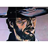 CLINT EASTWOOD SMOKING COWBOY GIANT PRINT POSTER PLAKAT