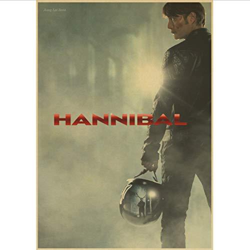 Hannibal Poster Gemälde Max Michelsen Hugh Dancy Horror Thriller Halloween Poster Und Drucke Wandbilder Home Decor 50X70Cm No Frame