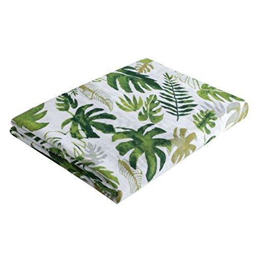 Bambus Musselin-Quadrat Wickeldecke, Ultra weicher Bio-Baumwolle Infant erhalten Comfort Wickeltuch für Dusche Geschenk, Spucktücher und Buggy, perfekt, baumwolle, Tropical Palm Leaves, 120x120cm