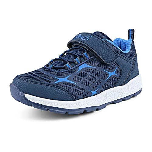 Niño Zapatillas de Deporte Niña Zapatillas de Correr Transpirables Ultraligeras Zapatos para Caminar Aire Libre Deportivas bebé Zapatillas de Running Interiores Trekking Ligero 31 Azul Oscuro Azul