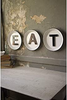 GwG Outlet White and Black Tin Eat Sign CHYK1027
