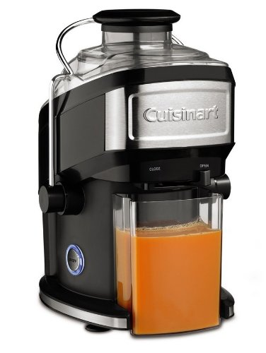 Cuisinart CJE-500 Licuadora de zumo, 500 W, 1.2 litros, Acero inoxidable, Negro y gris