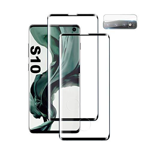Panzerglas Schutzfolie für Samsung Galaxy S10, [2 Stück] [9H Härte] [Anti-Kratzer] [Blasenfreie] [Kamera Schutzfolie] Panzerglas Schutzfolie für Samsung Galaxy S10