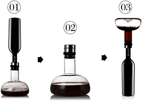 GAOword Decanter Cristallo Creativo Respirazione Decanter Vetro Vino Rosso Decanter Vino Rosso Fornisce Vetro Decanter