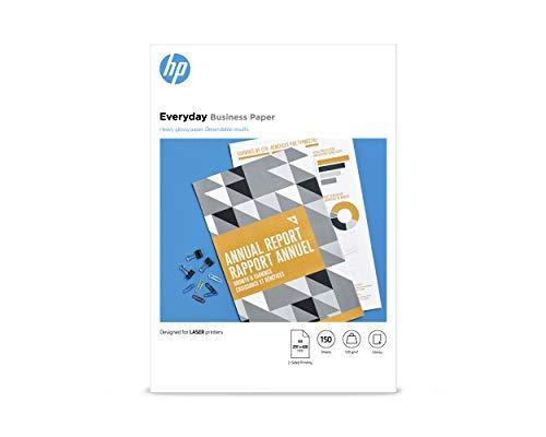 HP Everyday Business Photo Paper, 7MV82A, 150 hojas de papel fotográfico brillante avanzado, compatible con impresoras de inyección de tinta, A3, peso del material de impresión 120 g/m²