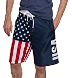 Calhoun Sportswear Usa American Flag Herren Swim Boardshorts (X-Large)