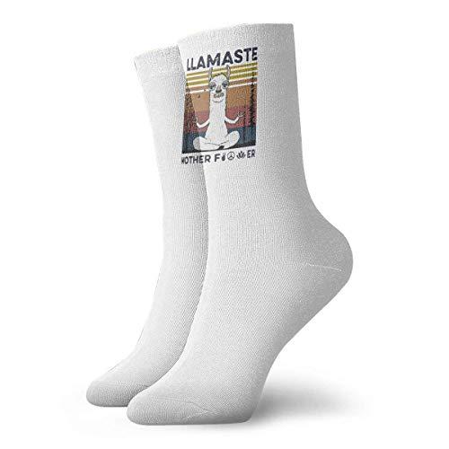 Adamitt Yoga Llamaste Mutter Ficker Unisex Crew Mode Neuheit Socken Kleid Socken Lustige Socken