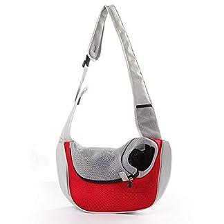 PETEMOO Pet Sling Carrier Bag, Hand-Free Dog Cat Outdoor Travel Shoulder Bag with Adjustable Strap& Zipper 16