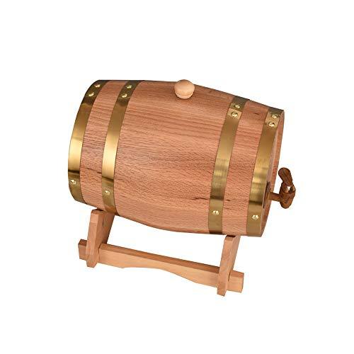 Wijnvaten, 5L Effen Biervaten, Huishoudelijke Lekvrije Houten vaten, Handgemaakt Hout, Aluminium Foil Voering, Gebruikt om uw eigen Whiskey, Bier, Wijn, Hete Saus, enz.