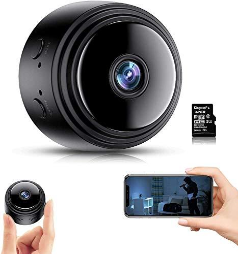 Camara Espia Oculta,1080P HD Mini Cámaras Espía WiFi con IR Visión Nocturna Detector de Movimiento, Cámara Vigilancia Portátil con Visualización Remota