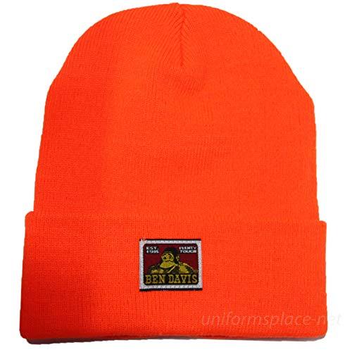 Ben Davis Acrylic Cuffed Beanie Skull Cap (Orange)