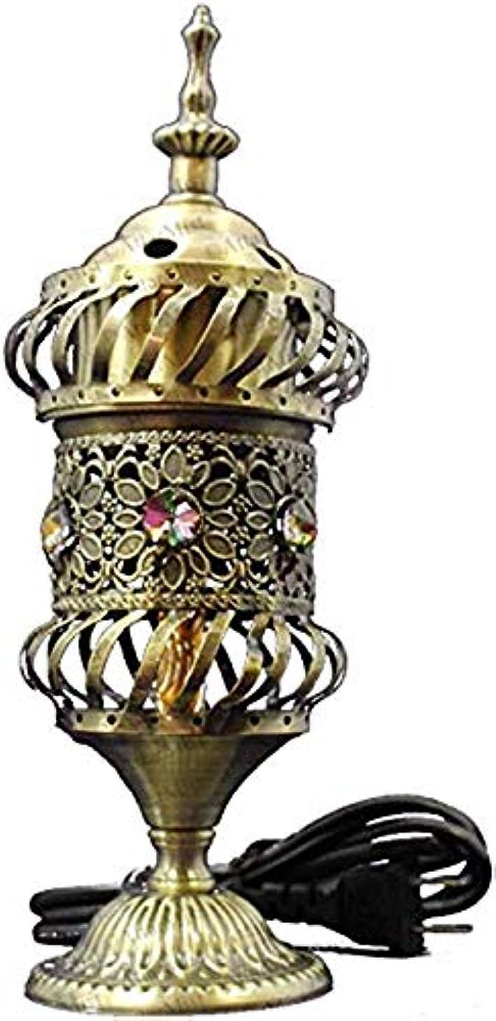 早く高い木曜日OMG-Deal Electric Bakhoor Burner Electric Incense Burner +Camphor- Oud Resin Frankincense Camphor Positive Energy Gift - WF-075 - Grey