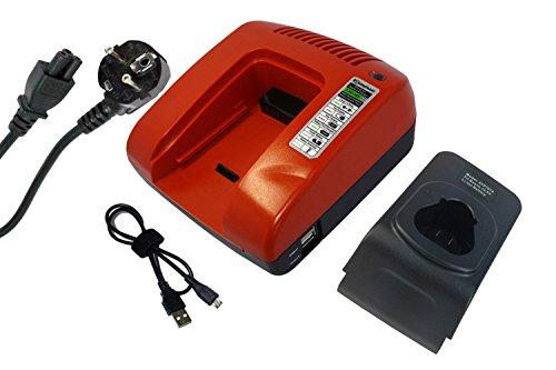 PowerSmart® Cargador para Bosch GSB 10.8-2-LI, GSB 10.8-2-LIH, GSC 10.8 V-LI, GSL 2, GSR 10.8 V-LI-2, GSR 10.8 V-LI2, GSR 10.8 V-LIQ, GSR 10.8 V-Li, GSR 10.8-2 V 2-LI, GSR. 10.8-LI, GUS 10.8 V-LI, GWB 10.8-LI, GWI 10.8 V-Li, PMF 10.8 LI, PS10-2, PS10-2A.