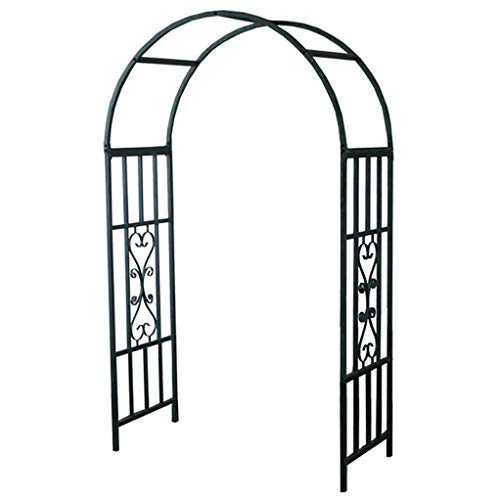 RuBao Black Arched Floor Plant Stand,Stable Metal Flower Display Rack,Garden Arched Iron Rack Holder,for Birthday Party Celebration Wedding Props Wedding Arch