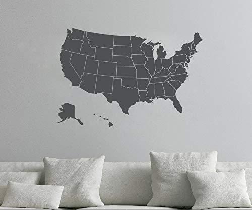 Verenigde Staten van Amerika kaart Muursticker USA Wall Map Vinyl Wall Art Mural USA kaartenstickers voor Home Retail of Office