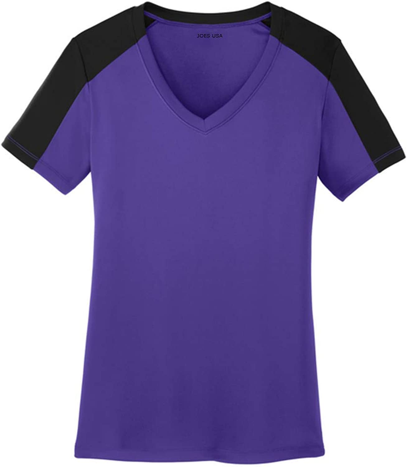 Joe's USA Ladies Athletic VNeck 2 color Sleeve TShirts in Sizes XS4XL