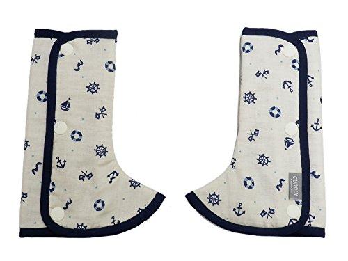 日本エイテックス カドリー 抱っこひものよだれカバー ショルダー&コーナーカバー マリンネイビー 01-105