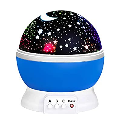 Fun New Cool Toys for 2-10 Year Old Boys Girls , Wonderful Quiet Romantic Starlight for Kids Toys for 2-10 Year Old Boys Christmas Birthday Presents Gifts for 2-10 Year Old Girls Blue TSUSXK001