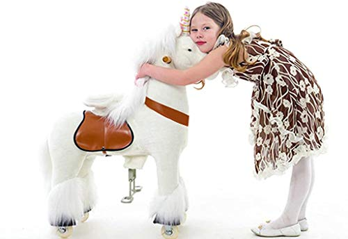 Smart Gear Pony Cycle White Unicorn Ride on Toy: 2 Sizes: World's First...