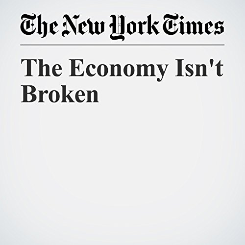 The Economy Isn't Broken copertina