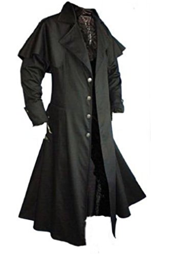 Inter Moden Tageskleidung - Herren Gothic Kutscher Mantel Matrixo XL