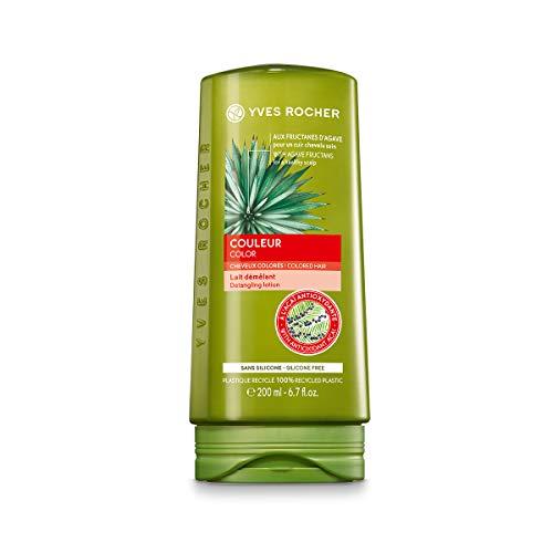 Yves Rocher - Acondicionador para desenredar el cabello de color brillante y duradero, sin silicona con agave orgánico, dermatológicamente probado, botella de 200 ml