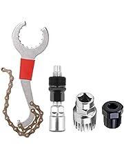 6-in-1 Fietscassette Removal Tool met zwengeltrekker en binnenlagerverwijderaar 5-11-voudig compatibel kettingwiel reparatie gereedschap set zwengel ketting as demontage gereedschap