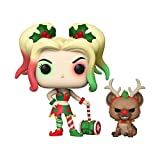 Funko- Pop&Buddy DC Comics Holidays S1 Harley Quinn w/Helper Figurine de Collection, 50656, Multicoleur