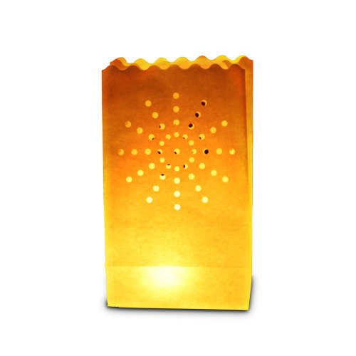Candle Bags UK Lot de 10 lanternes/Sacs Lumineux, Motif Soleil