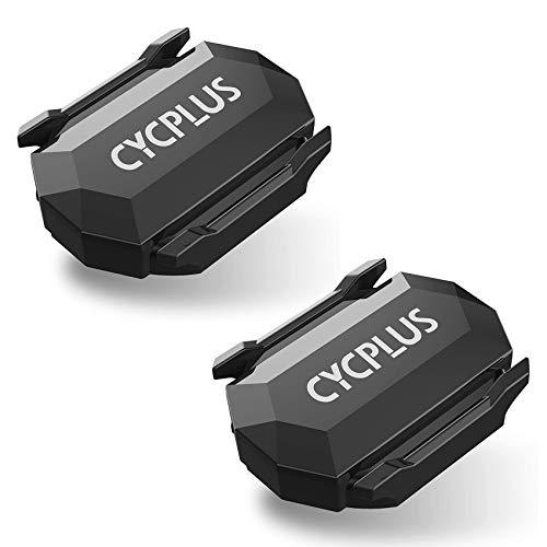 CYCPLUS Cycling Speed and Cadence Sensor Bluetooth & ANT+ Wireless Bike Cadence Sensor Speed IP67 Waterproof- C3 X 2