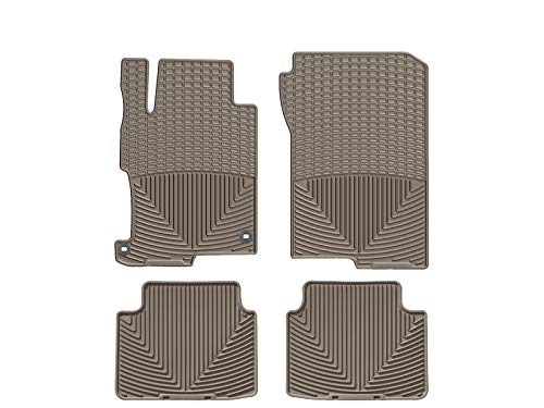 WeatherTech (WTHT293150) Floor Mat, Rubber, Front/Rear, Tan