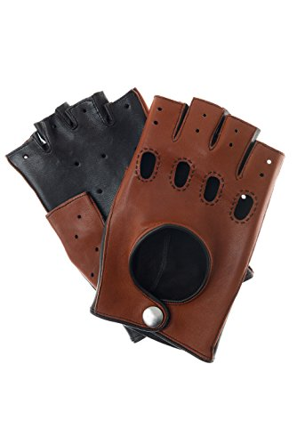 Mitaines, Gants voiture bicolore Cognac/marron - Marron - Medium