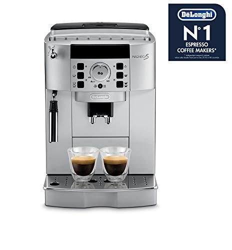 De'longhi Magnifica S Ecam 22.110.SB - Cafetera superautomática, 15 bares de presión, 13 programas ajustables, limpieza automática, sistema cappuccino, color plata