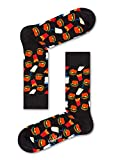 Happy Socks Unisex Freizeitsocken Hamburger Sock, Schwarz, 36-40 -