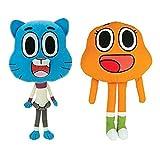 Amazing World of Gumball 2 Pieces Plush Set Gumball and Darwin Watterson Stuffed Animal Toy