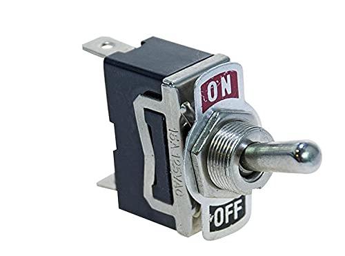 ECI ElettroEquipment - 5 interruptores de palanca de 15 A, encendido y apagado, terminales Faston de 6,3 mm