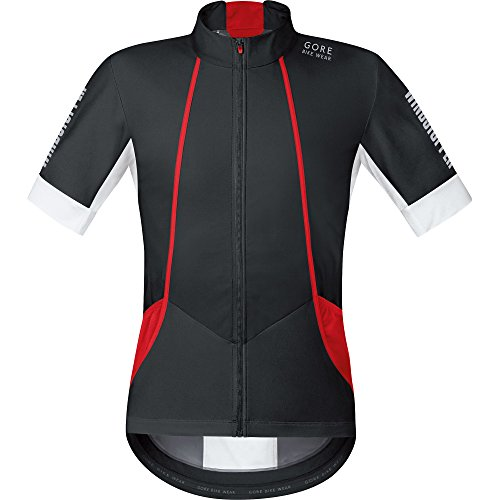 Gore Bike WEAR Herren Soft Shell Kurzarmtrikot Rennrad, Gore Windstopper, Oxygen WS SO Jersey, Größe S, Schwarz/Weiß, SMWOXY