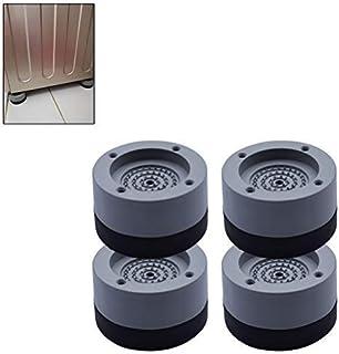 Mallalah Patin Anti Vibration Machine à Laver 4PCS Universel Pieds Stabilisateur Piédestal pour Lave-Linge Réfrigérateur A...